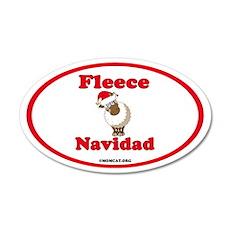 Fleece Navidad 35x21 Oval Wall Decal