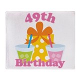 49th Birthday Party Gift Throw Blanket