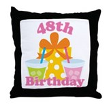 48th Birthday Celebration Throw Pillow