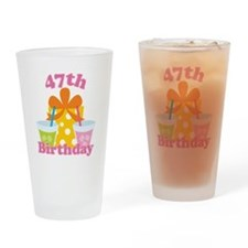 47th Birthday Party Gift Drinking Glass