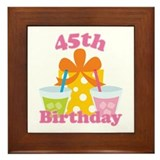 45th Birthday Party Framed Tile