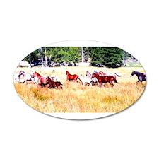 Running Appaloosa Herd Wall Decal