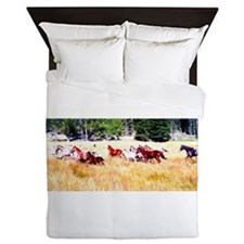 Running Appaloosa Herd Queen Duvet