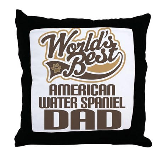 American Water Spaniel Dad Throw Pillow