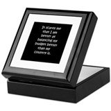 Balanced Budget Keepsake Box
