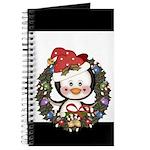 Christmas Penguin Holiday Wreath Journal