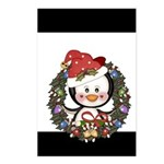 Christmas Penguin Holiday Wreath Postcards (Packag