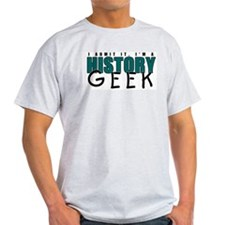 History Geek Ash Grey T-Shirt