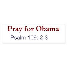 Pray for Obama (Bumper) Bumper Bumper Sticker