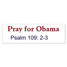Pray for Obama (Bumper) Bumper Bumper Sticker