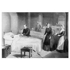 Florence Nightingale in a military hospital