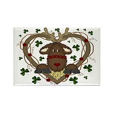 Christmas Reindeer Wreath Magnets (10 pack)