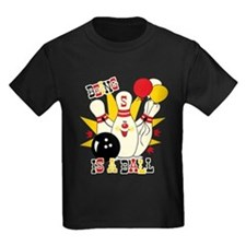 Cute Bowling Pin 5th Birthday T