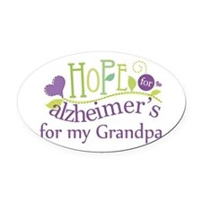 Hope For Alzheimers Grandpa Oval Car Magnet
