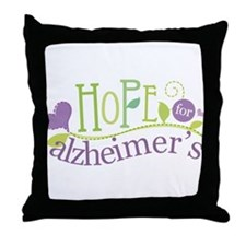 Hope For Alzheimer's Disease Throw Pillow