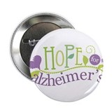 "Hope For Alzheimer's Disease 2.25"" Button (10 pack"