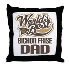 Bichon Frise Dad Throw Pillow