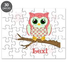 Custom name winter owl girl Puzzle