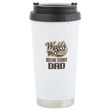 Boston Terrier Dad Ceramic Travel Mug