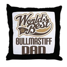 Bullmastiff Dad Throw Pillow
