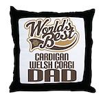 Cardigan Welsh Corgi Dad Throw Pillow