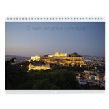 Greek temples Wall Calendar
