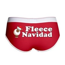 Fleece Navidad (white) Women's Boy Brief