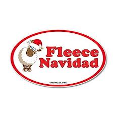 Fleece Navidad (wide) 35x21 Oval Wall Decal