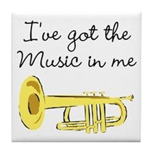 TRUMPET PLAYER Tile Coaster