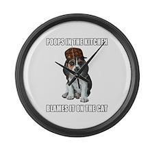 Scumbag Beagle Large Wall Clock