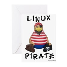 Linux Pirate Greeting Cards (Pk of 10)