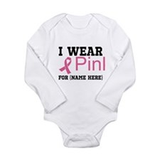 Wear Pink Long Sleeve Infant Bodysuit