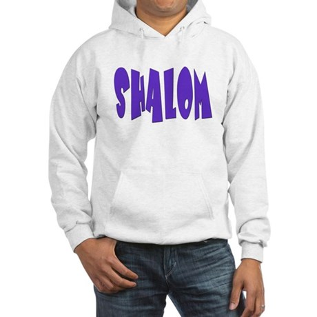 Hebrew Shalom Hooded Sweatshirt