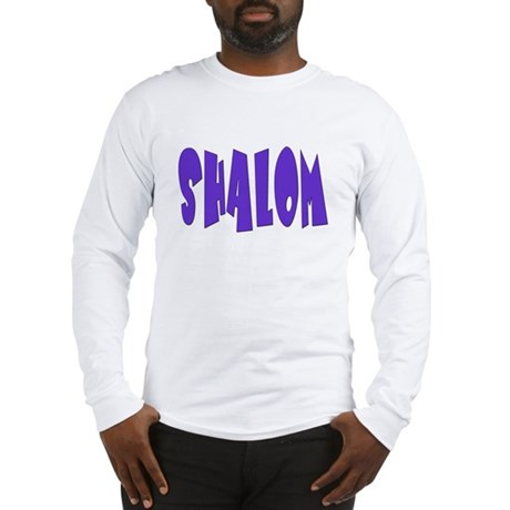 Hebrew Shalom Long Sleeve T-Shirt