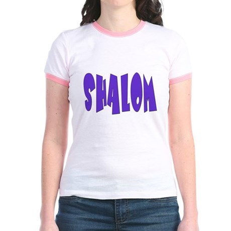 Hebrew Shalom Jr. Ringer T-Shirt