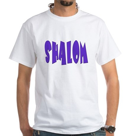 Hebrew Shalom White T-Shirt