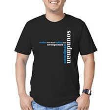 Black Soundman T-shirt (blue) T-Shirt