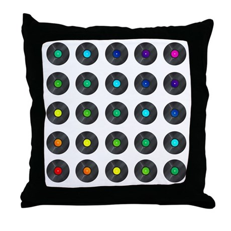 Rainbow Vinyl Throw Pillow