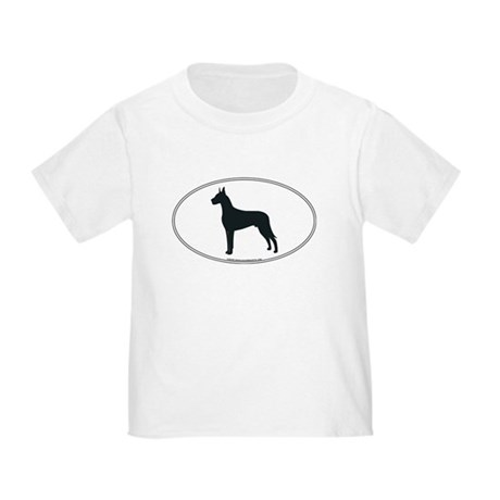 Great Dane Silhouette Toddler T-Shirt