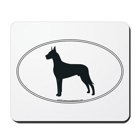 Great Dane Silhouette Mousepad