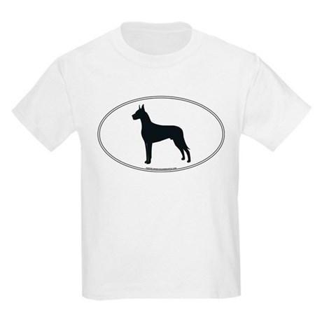 Great Dane Silhouette Kids T-Shirt