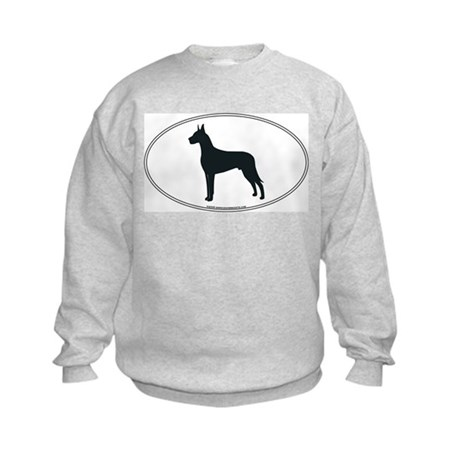 Great Dane Silhouette Kids Sweatshirt