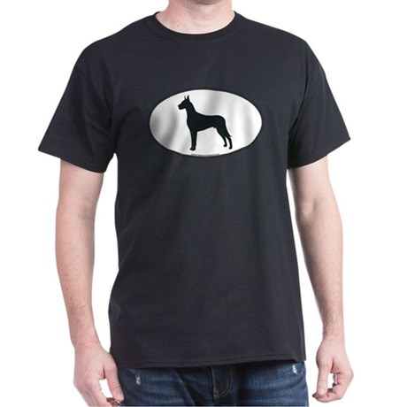 Great Dane Silhouette Black T-Shirt