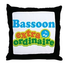 Bassoon Extraordinaire Throw Pillow