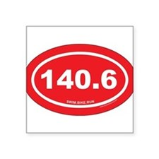 140.6 Swim Bike Run Ironman Red Oval Sticker