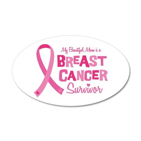 Breast Cancer Mom 20x12 Oval Wall Decal