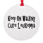 leukemia19.png Round Ornament
