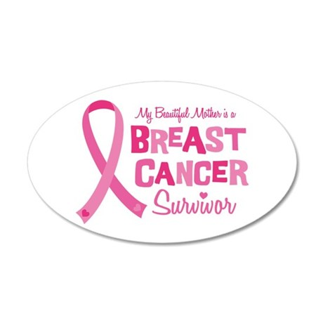 Breast Cancer Mother 35x21 Oval Wall Decal
