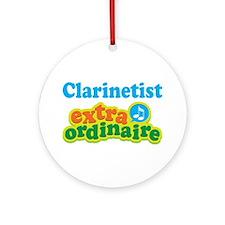 Clarinet Extraordinaire Ornament (Round)