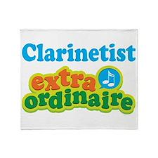 Clarinet Extraordinaire Throw Blanket